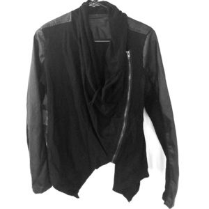 Blank NYC Cowl Neck Fitted Jacket